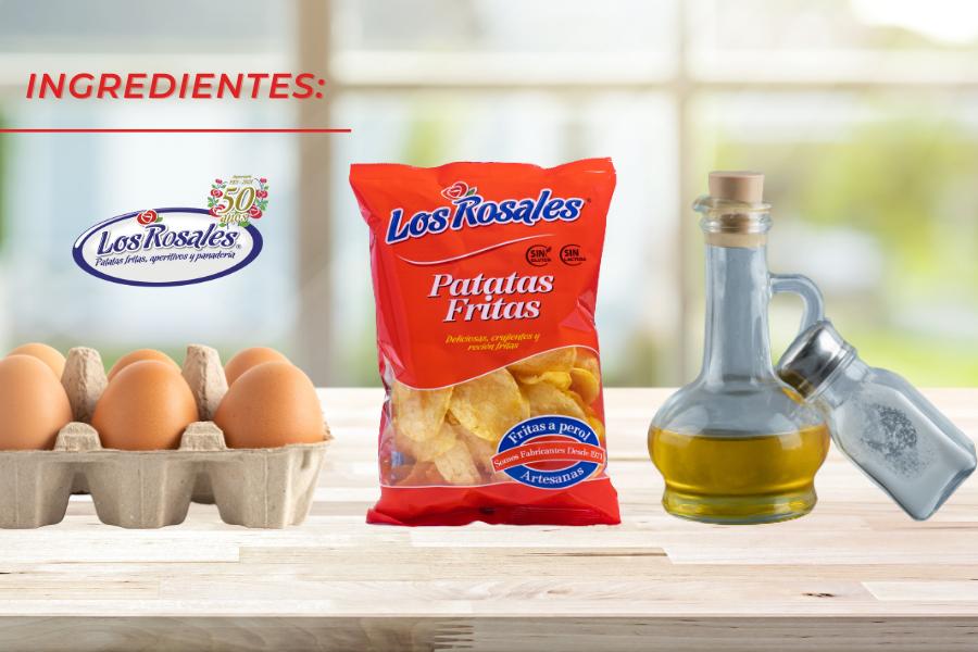 ingredientes tortilla de patatas chips